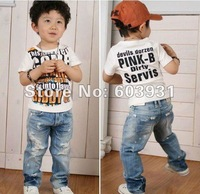 Boys' Jeans  baby Holes Jeans baby pants Boy's Jeans Cowboy pants trousers wholesale and retail