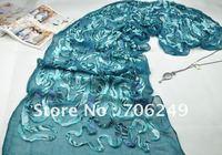 FREE SHIPPING,patchwork shawl,lace scarf,crystal scarf,muslim hijab,animal printed,2012 new design,50*180cm,fashion ladies shawl