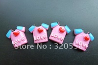 New arrival Small clothes pink flatback resin Scrapbooking Embellishment 50pcs Free Shipping