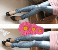 wholesale&retail Fashion Lady Copy Cowboy Jeggings ,Leggings Tights Pencil Pants ( Black, Blue)free size, free shipping