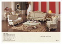 luxury classic home furniture - hand carved solid wood sofa set          Free Shipping