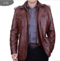 Free shipping!!! 2012 Sell like hot cakes brand men's clothing high-grade sheep skin double brought leather jacket