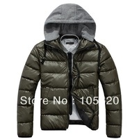 Free shipping Mens parka Down cotton hoodied coat Winter outerwear warm padded outdoor thick clothes male's fashion