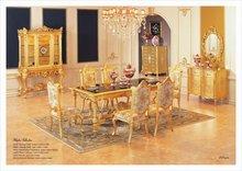 hand carved furniture - Baroque gold foil din