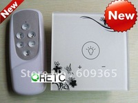 1Gang wireless remote control wall touch screen dimmer switch with LED indicator
