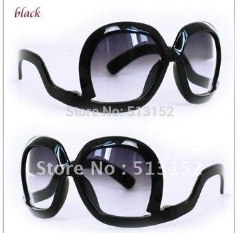 Women' Newest Upside Down Wearing Sunglasses Big Frame fashion Summer Glasses (10 colors)