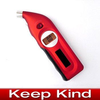 Best sselling 5pcs/lot Solar digital car tire pressure gauge,freeshipping