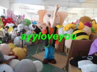 Free Shipping Adult Size Lovely Elephant Cartoon Cosplay Mascot Costume Cosplay Christmas Hallowmas Party Dress