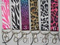 Free Shipping Leopard neck lanyard Animal Print  ID Key strap lots Mix order