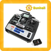 10pcs T6EHP-E 2.4G 6Ch 6 channel RC Controller Transmitter and Receiver  6 Channel 2.4Ghz Radio Control Transmitter helicopter