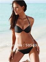 2012 Swimwear Bikini Sexy Swimsuit for Women Beachwear, Black Blue Pink, Free Shipping
