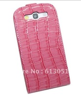 10pcs new style leather case Crocodile PU Flip Leather Pouch Cover Case for Samsung Galaxy S III 3 SIII i9300 S3 7% off
