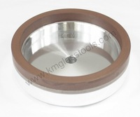 KM Brand Top-Quality! Resin wheels D130xd-10x10 for Glass Straight-line Edging,Variable miter,Double edging machine.