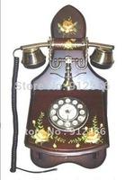 Wooden Antique European Wall Telephones