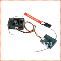2.4G 6Ch AR6200 Receiver (With Satellite RX + Bind plug) Compatible with DX6i JR DX7 DSM2 Transmitter + Free shipping