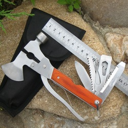 multi-function pliers hammer saw knife bottle opener camping outdoor essential stainless steel hand tools(China (Mainland))