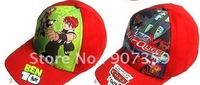 Popular Children's Cartoon hats Cartoon Ben 10 /Pixar Car/Spider-Man Adjustable Children Kids Caps Mix Designs 50pcs/lot