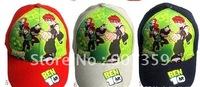 Popular Children's Cartoon hats Cartoon Ben 10 /Pixar Car/Spider-Man Adjustable Children Kids Caps Mix Designs 12pcs/lot