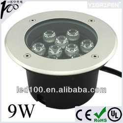 Stainless 9W Underground LED Buried Light, LED Underground Lamp 9W 100V-240V IP67(China (Mainland))