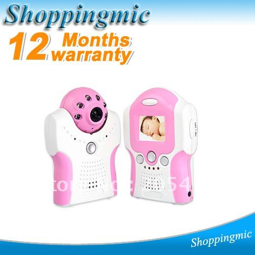 Red lovely 1.5 Inch TFT LCD BRAND Camera Voice Control Baby Monitor, 2.4GHz Wireless Nightvision Free Shipping(China (Mainland))