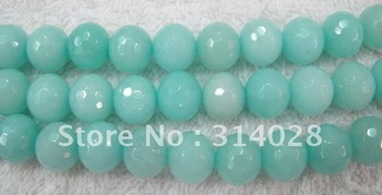 Loose beads Amazoniote jade 14mm faceted round beads 140pcs/lot. 1string=28beads. free shipping