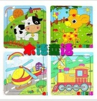Free mail Wooden Jigsaw Puzzle Kindergarten baby toys 9 piece jigsaw puzzle toy