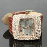 Наручные часы Crystal Rhinestone Leather Women dress Ladies Watch with Diamonds Hour Marks, Four Colors