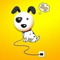 Free Shipping novelty new design DIY cartoon lovely puppy wall lamp combined wall sticker, MOQ: 1 piece