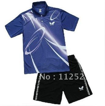 wholesale!Butterfly Man's Badminton /table tennis shirt colour red /blue /black 011