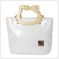 2012 New Fashion!!Free Shipping Wholesale Retail Pink Black White  Hello Kitty  PSP  schoolbag tote bag handbag shoulder bag