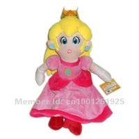"Free Shipping New Super Mario Princess Peach Plush Doll 14"" Retail"