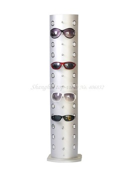 TY003 Aluminum & plastic board reading glasses display stand rack , glasses display shelf, eyewear display rod board