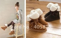 Free Shipping Winter Woolen Lace Up Snow Women Boots Shoes ladies
