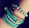 Min order is20$(Mixed order)Popular trendy bracelet Free shipping 2012 blue beads multilayer bracelet 9 times bracelet