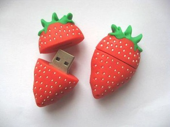 Promotions! real 4/8/16/32GB! Strawberry model USB2.0 Memory Stick Flash Drive Wholesale,retail and free shipping  U1-3