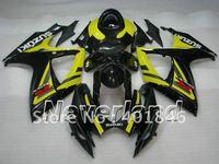 Freeship Custom black/yellow SUZUKI GSXR600 750 2006 2007 motorcycle racing ABS fairings for GSX-R600 R750 06 07 fairing kit