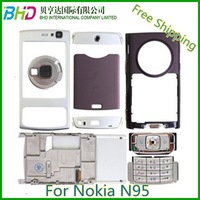 Full Housing Cover Case For Nokia N95 Housing Cover with slide and Keypad free shipping