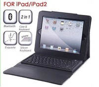 "NEW 9.7"" Wireless Bluetooth 3.0 Qwerty Keyboard Leather Case Stand For ipad 1 2 3  FREE SHIPPING"