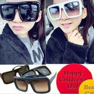 New Fashion Europe Vintage New style Wide Edge Black Sunglasses Men's Sunglasses Women's glasses  Eyeglasses Free Shipping