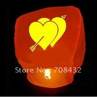Up to 50% discount!do promotion! 100psc/lot FIRE SKY CHINESE FLYING LANTERNS LAMPS WEDDING WISH PARTY HOT