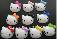 100 PCS  Hello Kitty resin flatback buttons appliques/craft DIY kid's doll