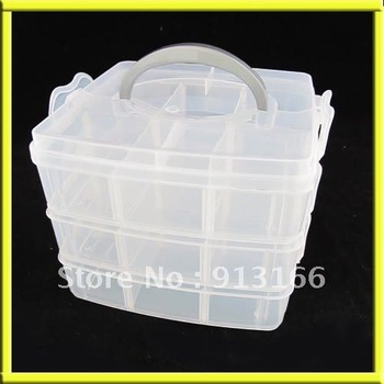 3 Layer Multi Volume Storage Box Case Nail Art Craft
