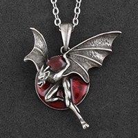 vintage night evil pendant necklace