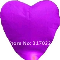 50% off 100pcs/ lot Heart Shape Sky Lanterns BIRTHDAY WEDDING PARTY Wishing Lamp with different color