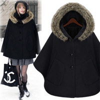 Casual fashion hot-selling fashion cap cloak overcoat