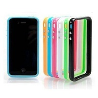 50pcs/Lot Colorful Protective Bumper Case Frame Cover for iPhone 4 4S, Bumpers Case for iphone 4S 4G with Retail Packing