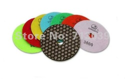 Free shipping! 4GM Wholesale 4inch/100mm Dry Polishing Pads/granite and marble or Honeycomb Flexible polishing pads+7Pcs/Lot(China (Mainland))