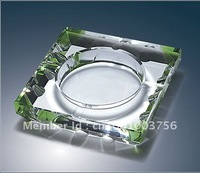 Transperent Crystal  Ashtrays With the four corners of the color  for Business Souvenirs