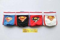 4pcs/lot  Cotton Boxer Shorts Superman Sexy Trend Cartoon Men's underwear 4 color mixed