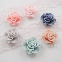 free shipping by CPAM 100 pcs/lot flat back resin flower DIY decoration size 22mm pink blue white yellow light red